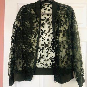 Women's long sleeve sweater on zipper